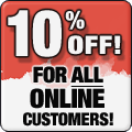 10% off painting services.